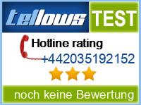 tellows Bewertung +442035192152