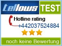 tellows Bewertung +442037524884