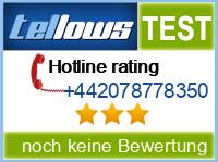 tellows Bewertung +442078778350