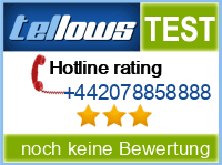 tellows Bewertung +442078858888