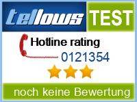 tellows Bewertung 0121354