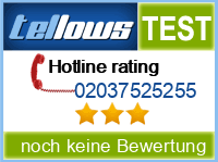 tellows Bewertung 02037525255