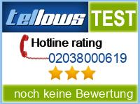 tellows Bewertung 02038000619