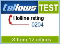 tellows Bewertung 0204