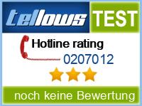 tellows Bewertung 0207012