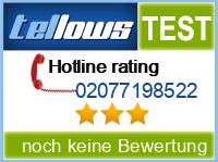 tellows Bewertung 02077198522