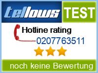 tellows Bewertung 0207763511