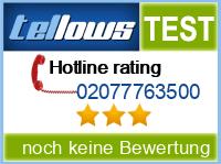tellows Bewertung 02077763500