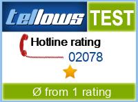 tellows Bewertung 02078