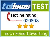 tellows Bewertung 020808