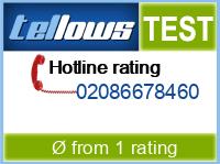 tellows Bewertung 02086678460