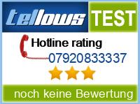 tellows Bewertung 07920833337