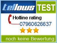 tellows Bewertung 07960626637