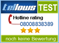 tellows Bewertung 08008838389